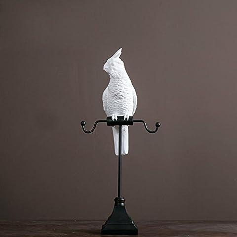 Kreative Startseite Parrot Schmuck Rack-Ohrring-Halskette Rack-Harz-Fertigkeit-Geschenke