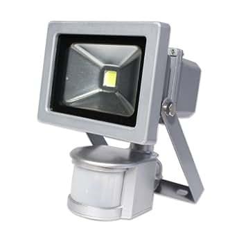 10W LED Projecteur Spot lampe extérieur avec detecteur de mouvement buitenlamp blanc chaud 2800K