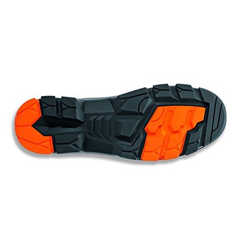 """Uvex Sicherheitsschuh """"uvex 2"""" S2 metallfrei; Outdoor-Sohle; besonders leicht; Obermaterial: Velour; Halbschuh oder Stiefel; versch. Gr. Grau/Orange"""