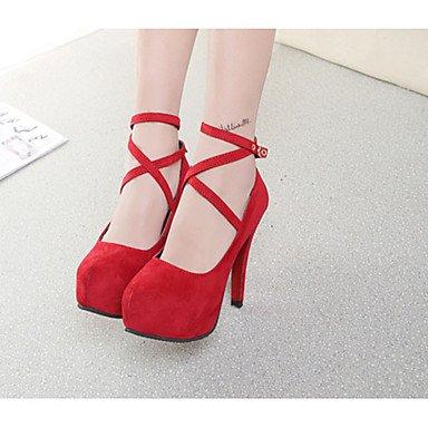 Moda Donna Sandali Sexy donna tacchi Primavera / Estate / Autunno Comfort abito pu Stiletto Heel altri nero / blu / rosso altri Red