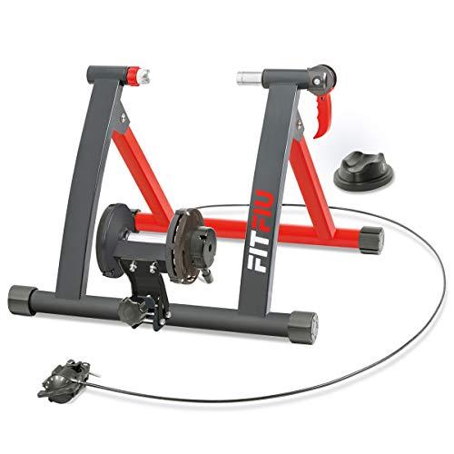 Fitfiu - ROB10  Rodillo entreno para bicicleta, unisex, color negro