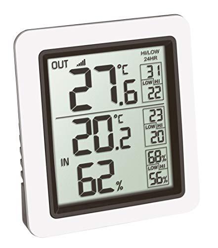 TFA Dostmann Info Funk-Thermometer inkl. Außensender Kat.-Nr. 30.3065.02, Weiß