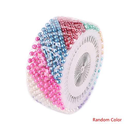 Morza 40pcs Bricolage Maison Perle en Plastique Aiguille Set de Couture Perle Pin Manuel de positionnement Aiguille de Couleur Kit Perle