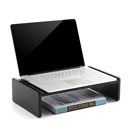 RFIVER TAVR Supporto per Monitor di Legno tavolino pc Nero CM1001
