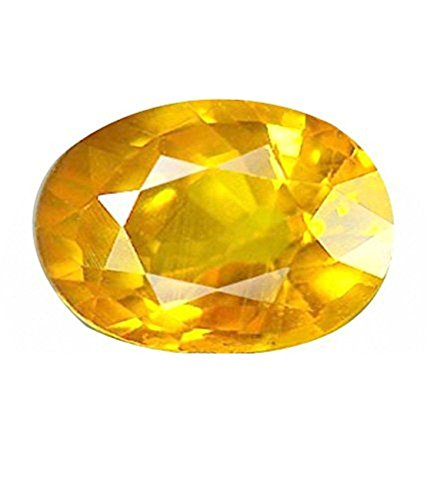 Yellow sapphire (Pukhraj) 9.25 Ct. Certified Natural Rashi Ratan Gemstone For Astrological Purpose By Akshay Gems