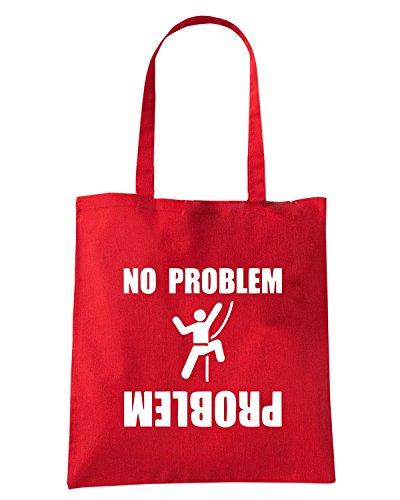 T-Shirtshock - Borsa Shopping FUN1018 climbing problem womens tshirt Rosso