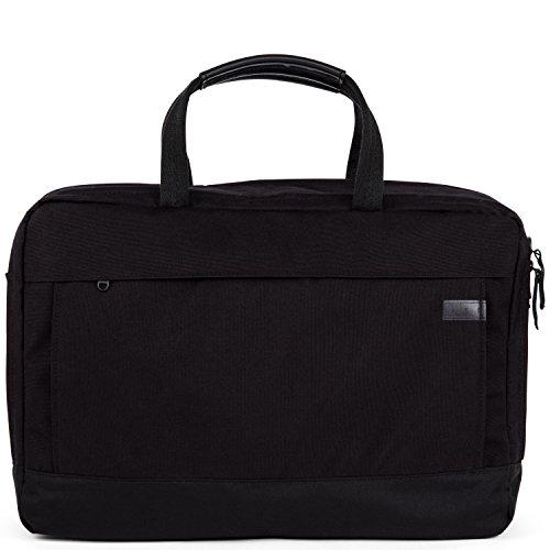 AEP Laptoptasche DELTA LARGE für Herren und Frauen inklusive 17 Zoll Laptopfach - schwarz Pitch Black - schwarz