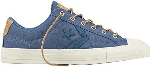 Converse Uomo Fuoriclasse OX formatori, Blu Blue Coast-Vintage Khaki-Sand