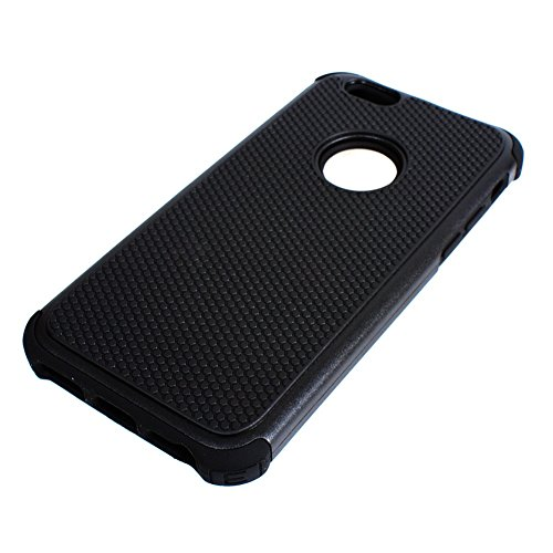 D9QHybridultradünnenCaseSiliconwiederCover Protector SkinsfürAppleIphone6 !!Schwarz