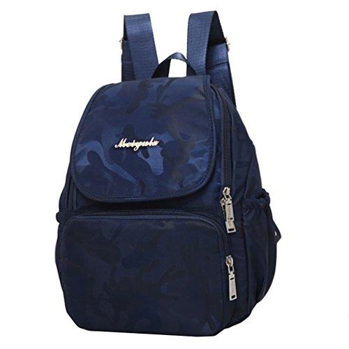 827be005392ab Vbiger Oxford Rucksack Wasserdichte Schulschulterbeutel Lässige Rucksäcke  Modische Reise Daypack für Frauen Blau