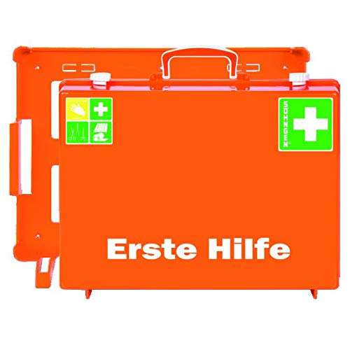Söhngen MT-CD Erste Hilfe Koffer Industrie (mit Füllung nach DIN 13169, mit Wandhalterung, Koffer aus ABS Kunststoff) 0301155