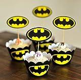 Astro Shop Transformers Thema Cupcake-Förmchen mit Picks für Kuchen & Party Dekoration Favor Supplies 9cm Batman
