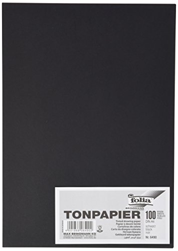 Preisvergleich Produktbild folia 6490 Tonpapier (A4, 100 Blatt) schwarz
