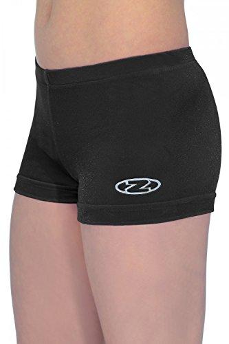 Mädchen The Zone Gymnastik Shorts/Shorts alle farben/Alle Größen - Schwarz, 32 (146-158)
