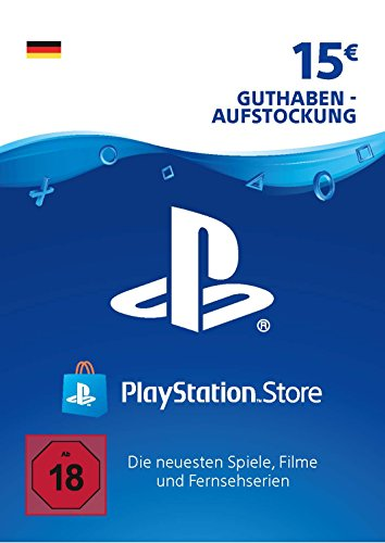 PSN Card-Aufstockung | 15 EUR | PS4, PS3, PS Vita Playstation Network Download Code - deutsches Konto