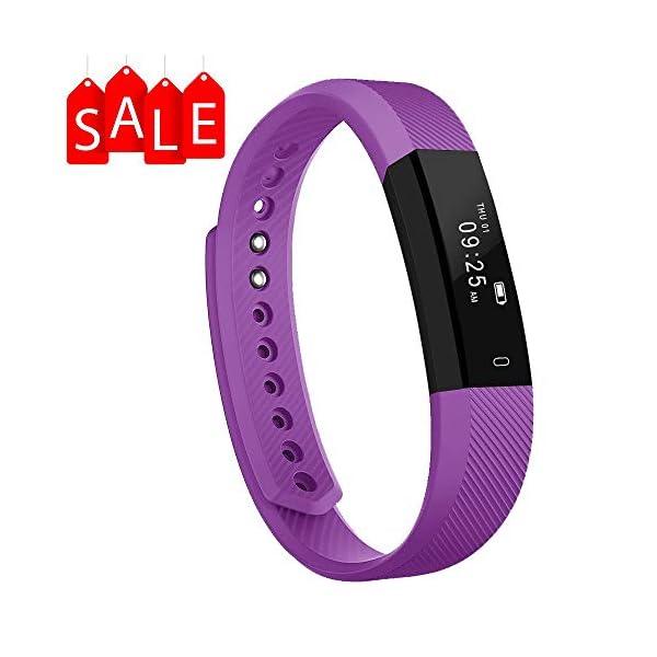 Arbily Pulsera Inteligente, Fitness Tracker Smart Wristband Bracelet monitorear la Actividad de Seguimiento de BOT¨®n t¨¢ctil de Bluetooth Pulsera Brazalete Deportivo Impermeable IP66 de la Aptitud 1