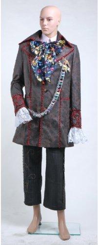 Alcie in Wunderland Johnny Depp Verrückt Hatter Kostüm-Bitte mailen Sie uns Ihre benutzerdefinierten (Kostüme Depp Johnny)