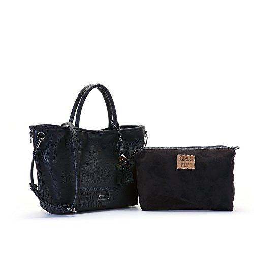 Abbacino - Carole, borsa Donna Nero
