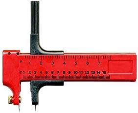 KABEER ART® Circle Cutting Compass Diameter - 1-15 Cm - Red