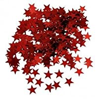 WISH LIST FOR YOU 14G RED STARS WEDDING BIRTHDAY PARTY CHRISTMAS SHINY SPRINKLES SCATTER TABLE DECORATION CONFETTI