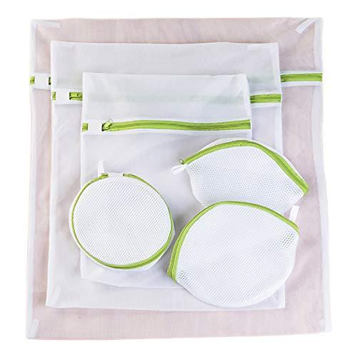 outgeek 6PCS Mesh Wäsche Taschen Schützend Mesh Waschen Taschen Reißverschluss Waschen Taschen - Wäsche-waschen Für Mesh-tasche