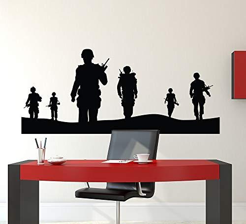 JJHR Wandtattoos Wandaufkleber Armee Solider Wandtattoo Home Decor Poster Military Armee Männer Wandbild Removable Schlafzimmer Decor Tapete Poster 56 * 23 cm
