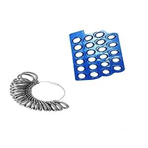 Sharplace Schmuck Werkzeug Ringmesser Gerät Ring Gauge + Fingergröße Baumaschinen
