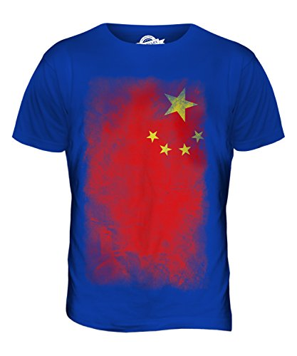 CandyMix Volksrepublik China Verblichen Flagge Herren T Shirt Königsblau
