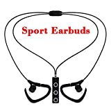 Bluetooth Headphones eBus Professional Sport Wireless Earbuds V4.1 with Microphone Superb Stereo Sound Universal Headsets Sweatproof (Black)
