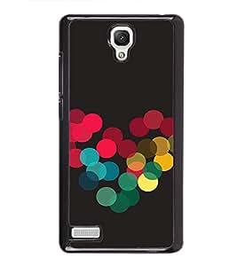 Colourful Dots Hearts 2D Hard Polycarbonate Designer Back Case Cover for Xiaomi Redmi Note :: Xiaomi Redmi Note 4G