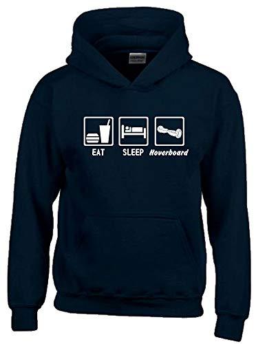 EAT Sleep Hoverboard ! Hoodie Sweatshirt mit Kapuze schwarz-Weiss Gr.164 cm