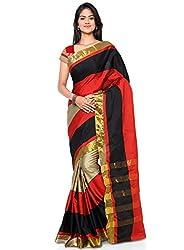 Buyonn Women's Cotton Saree (OFS1101-NEW1_Multi-Coloured_Free Size)