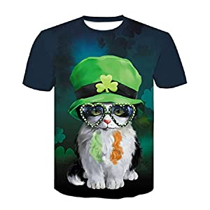 ZzSTX Cartoon T-Shirt Pullover Freizeit Kind 3D T-Shirt Kurzarm Shirt T-Shirt Männer Männer und Frauen