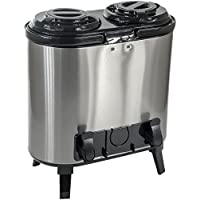 Top Quality Stainless Steel Twin Tea Coffee Hot Water Drinks Distributor for Catering, Conference (6ltr x 2)