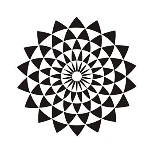 (Hlfymx Vinyl Wandaufkleber Buddha Heilige Geometrie Religiöse Illusion Lotus Kunst WandS Dekoration Für Schlafzimmer Wohnzimmer 57 * 57 Cm)