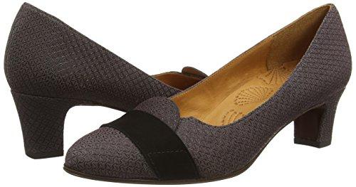 Chie Mihara Manaus#, Chaussures à talons - Avant du pieds couvert femme Gris - Grau (loos asfalto ante negro)