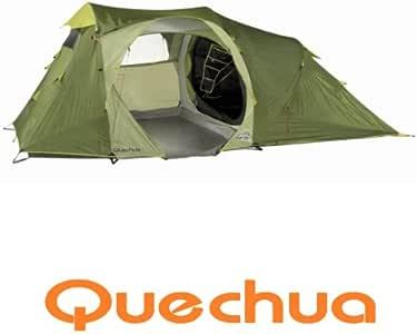 quechua 4 personenzelt mit gro em vorraum wurfzelt seconds family 4 1 garten. Black Bedroom Furniture Sets. Home Design Ideas