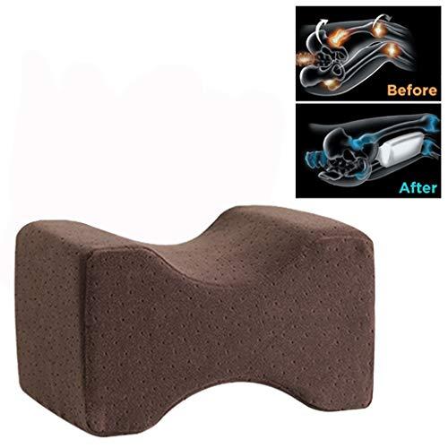 VNEIRW Orthopädisches Kniekissen für Seitenschläfer, Seitenschläferkissen, Support Kissen Gedächtnis Schaumstoffkissen mit waschbarem, Sorgt für Druckentlastung - Hüfte, Bein, Knie, Rücken (Kaffee)