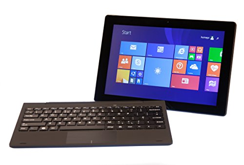 Bitcool 2 in1 Windows 10 or 8.1, 10.1 Inch Tablet or Laptop + Office 365 + Keyboard Case