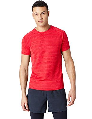 FIND Herren T-Shirt mit Struktur Rot (Red)