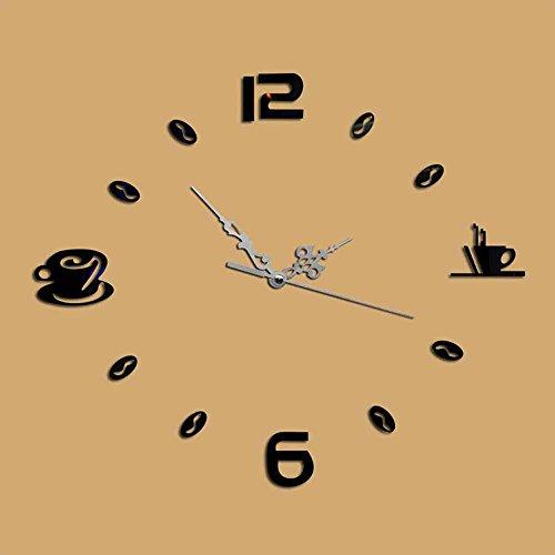 KHSKX Spiegel Wand Uhr DIY Mode, Acryl und elegante Wohnzimmer Uhren, personalisierte Kaffee Spiegel Wanduhr , (Kostüm Eine Standuhr)