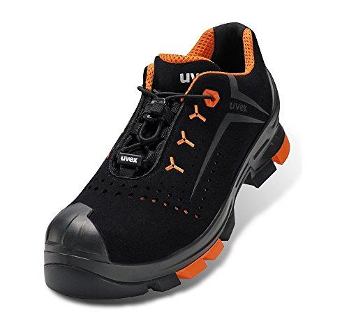 Uvex 2 Arbeitsschuhe - Sicherheitsscuhe S1 P SRC ESD - Orange-Schwarz, Größe:44