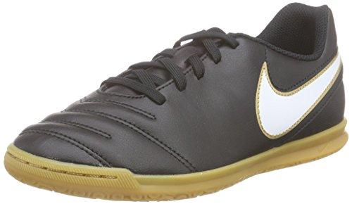 Nike Unisex-Kinder Tiempo Rio III IC Fußballschuhe, Schwarz (Black/White-Metallic Gold 010), 38 EU (Schwarz Rio Schuhe)