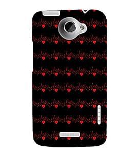 EPICCASE luv u Mobile Back Case Cover For HTC One X (Designer Case)