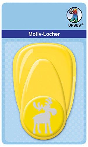 Ursus 19490078 - Motivlocher Elch 2, ca. 38,1 mm, gelb -