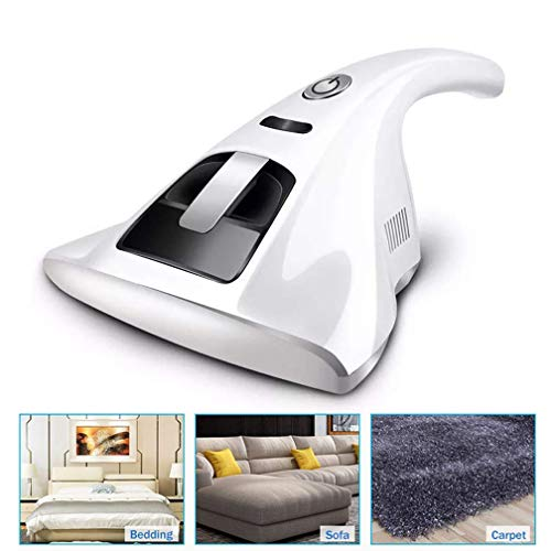 Handheld-UV-Milben-Staubsauger,Anti-Allergen-Reiniger tötet 99,9 Prozent Anti-Staubmilben-Staubsauger antibakterielles, tragbares Gerät mit hoher Wirkungsgrad-Sterilisation,White