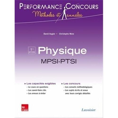 Physique 1re année MPSI-PTSI