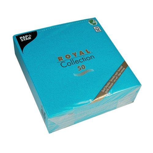 Papstar 50 Serviettes - Royal Collection - Pli 1/4-40 Cm X 40 Cm - Turquoise