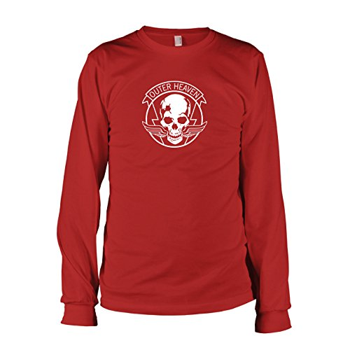 TEXLAB - MGS Outer Heaven - Herren Langarm T-Shirt, Größe L, rot (Mgs Boss Kostüm)