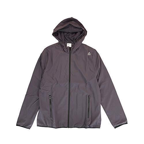 Reebok Women's Crossfit Full Zip Woven Jacket (Smoky Volcano) CX0295 Reebok Womens Zip Jacket